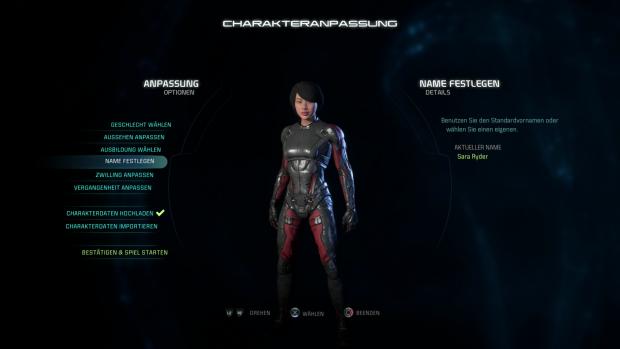 Vor Spielbeginn können wir das Aussehen der Heldin oder des Helden festlegen. (Screenshot: Golem.de)