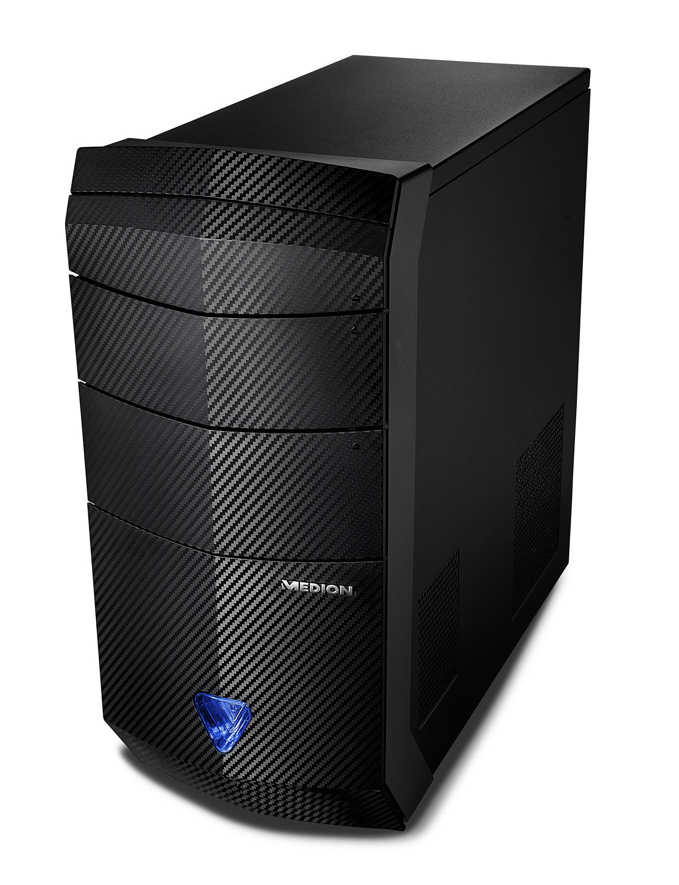 Erazer-Serie: Medion bringt mehrere Komplett-PCs mit AMDs Ryzen heraus - Erazer X7732 D und P7734 D (Bild: Medion)