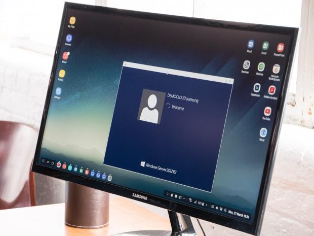 Mit DeX können virtuelle Desktops genutzt werden. (Bild: Martin Wolf/Golem.de)