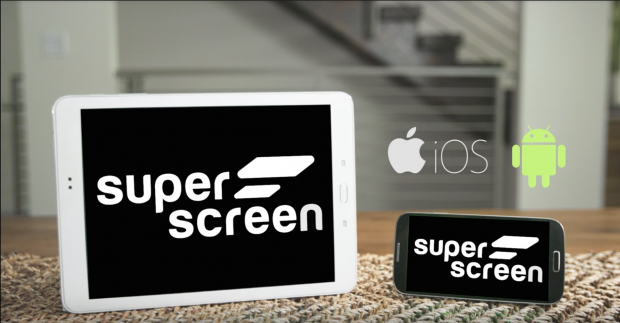 Superscreen funktioniert mit Android-Smarpthones und iPhones. (Bild: Superscreen)