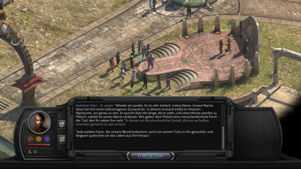Selbst nebensächliche Details sind in Torment aufwendig - und gut! - in Texten erklärt. (Screenshot: Golem.de)