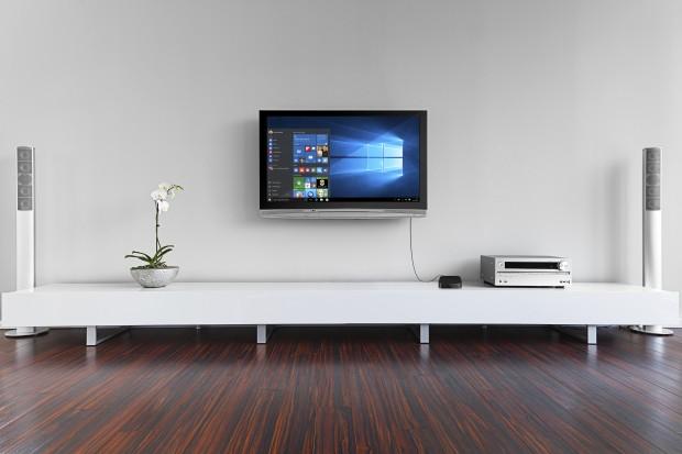 Der PC als Wohnzimmer-PC (Bild: Trekstor)