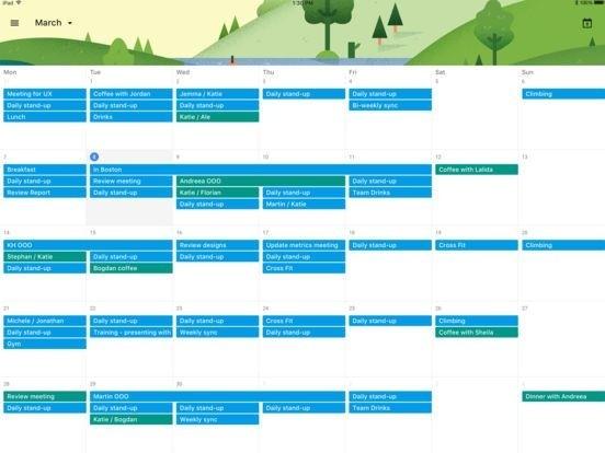 Google Kalender auf dem iPad (Bild: Google)