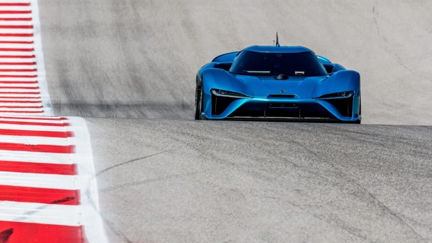 Der Nio EP9 fährt autonom auf dem Circuit Of The Americas. (Foto: Next EV)