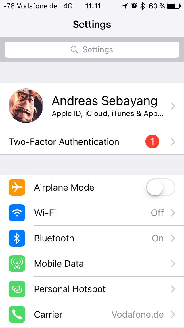 APFS unter iOS 10.3 im Test: Schneller suchen und ein bisschen schneller booten - Die neuen Systemeinstellungen (Screenshot: Golem.de)