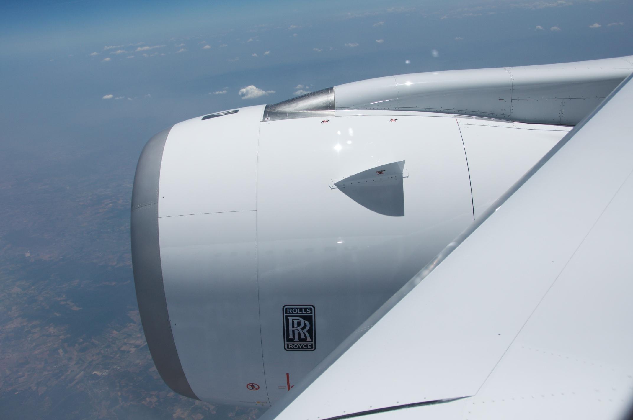 Airbus A350-1000XWB: Ein Blick ins Innere eines Testflugzeugs - Die Triebwerke der neuen Langstreckenflieger ... (Foto: Andreas Sebayang)
