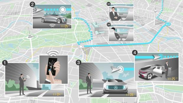 Daimler setzt auf autonome Fahrzeuge. (Bild: Daimler)