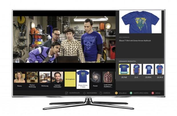 Auf einem Tizen-TV werden die Dive-Informationen ins Fernsehbild eingeblendet. (Bild: Dive)