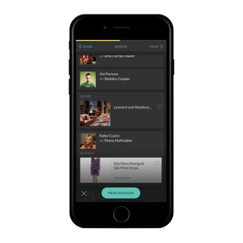 Die Smarpthone-App zeigt Dive-Informationen zum laufenden Programm. (Bild: Dive)