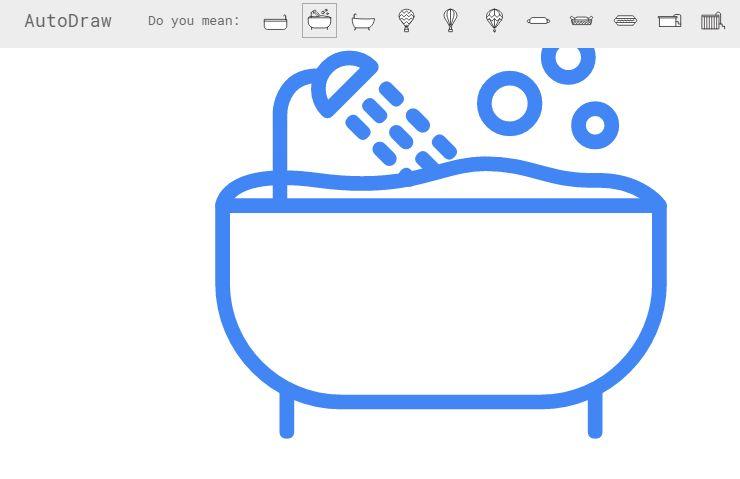 Autodraw: Googles neues Malprogramm verbessert klägliche Zeichnungen - Der Vorschlag von Autodraw sieht merklich besser aus als unser Versuch. (Screenshot: Golem.de)