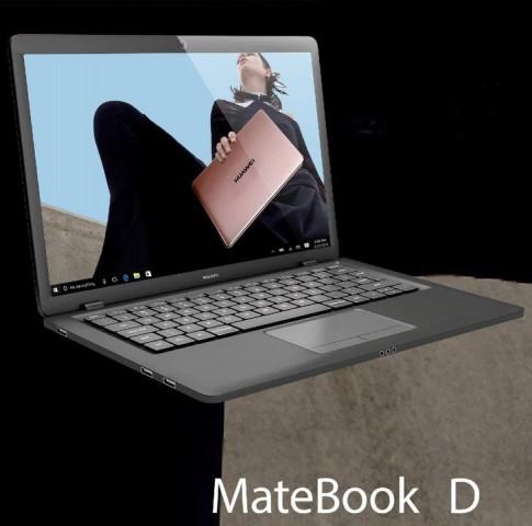 Das Huawei Matebook D im Clamshell-Design (Bild: Evan Blass)