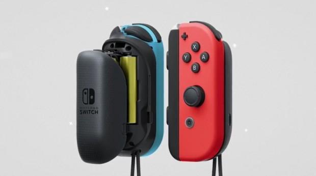 Der Batteriegriff für Joy-Cons soll die Ergonomie verbessern und die internen Akkus schonen. (Bild: Nintendo)