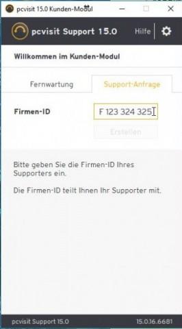 Anhand der Firmen-ID können wir Geräte der Support-Liste hinzufügen. (Screenshot: Oliver Nickel/Golem.de)
