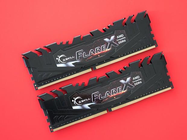 Die Flare X von G.Skill schaffen DDR4-3200 bei CL14-14-14-34-1T. (Foto: Martin Wolf/Golem.de)