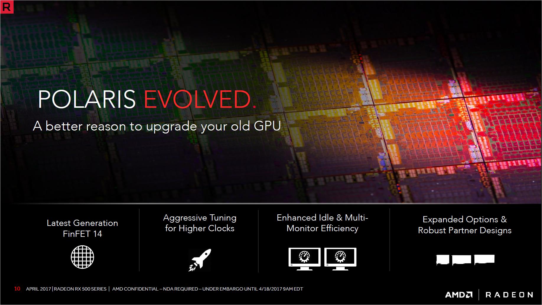 Radeon RX 580 und RX 570 im Test: AMDs Grafikkarten sind schneller und sparsamer - Die GPUs werden im 14LPP-Verfahren hergestellt. (Bild: AMD)