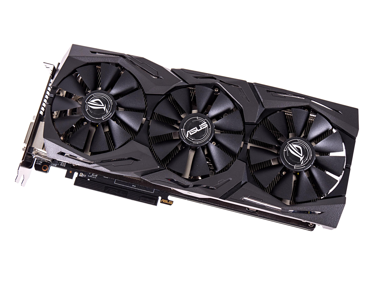 Radeon RX 580 und RX 570 im Test: AMDs Grafikkarten sind schneller und sparsamer - Asus Radeon RX 580 ROG Strix 8G (Foto: Martin Wolf/Golem.de)