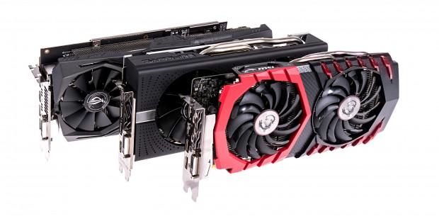 2x Radeon RX 580 und 1x Radeon RX 570 (Foto: Martin Wolf/Golem.de)
