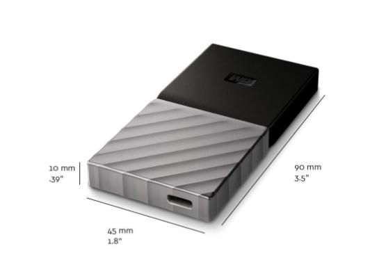 Die Dimensionen des Produkts (Bild: Western Digital)