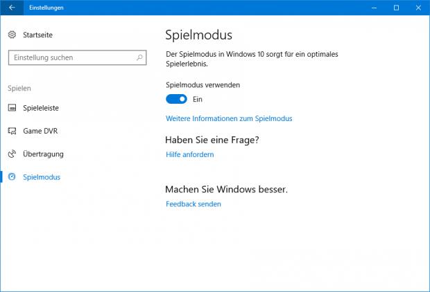 Der Spielmodus ist Teil des Creator's Updates (Screenshot: Golem.de)