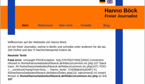 Und auf einmal war das Passwort auf der Webseite zu lesen. (Screenshot: Hanno Böck)