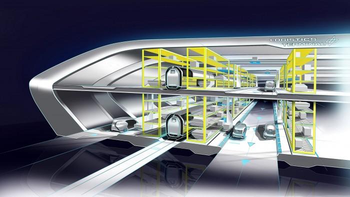 In speziellen Terminals erfolgt das Be- und Entladen automatisiert. (Bild: DLR)
