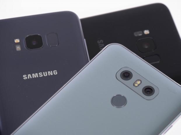 Die neuen Samsung-Geräte haben die Kamera des Galaxy S7; das G6 kommt wie das G5 mit einer Dual-Kamera mit zusätzlichem Weitwinkelobjektiv. (Bild: Martin Wolf/Golem.de)