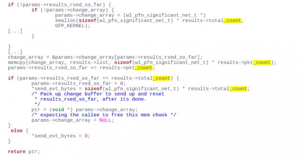 Der Quellcode das S7 enthält einen Heap Buffer Overflow (Screenshot: Hanno Böck/Golem.de)