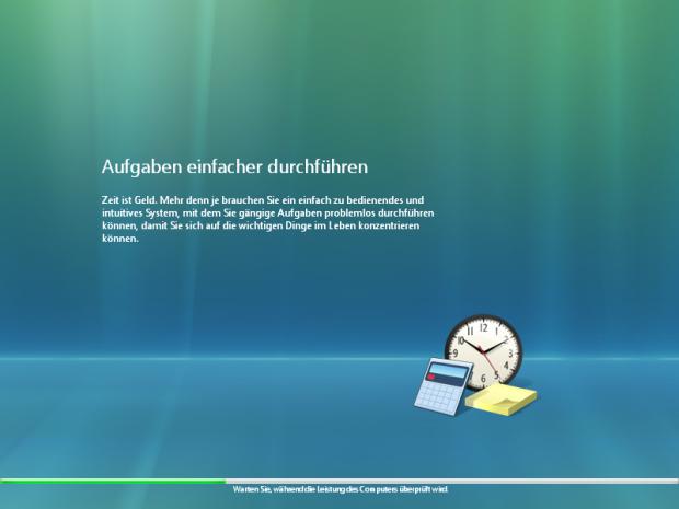 Vista prüft bei der Installation, ob der Rechner auch genügend Leistung hat. (Screenshot: Golem.de)