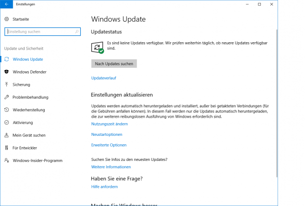 Das Windows Update ...(Screenshot: Golem.de)