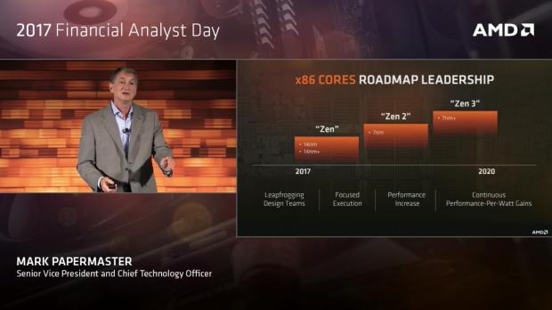Kommende Epyc-CPUs sollen im 7- und 7+-Verfahren gefertigt werden. (Bild: AMD)