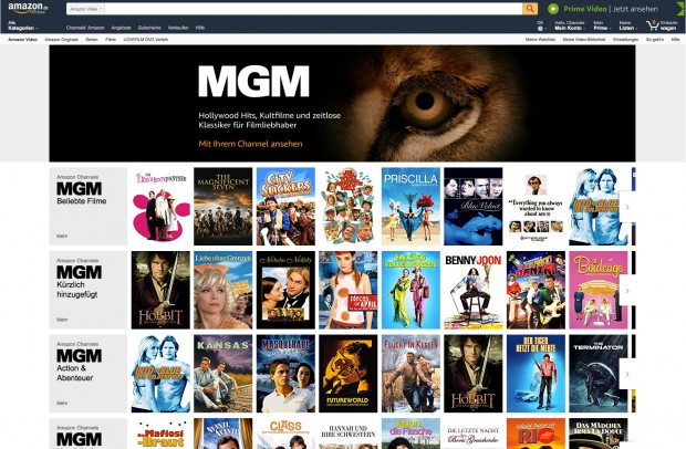 Der MGM-Channel von Amazon Video (Bild: Amazon)