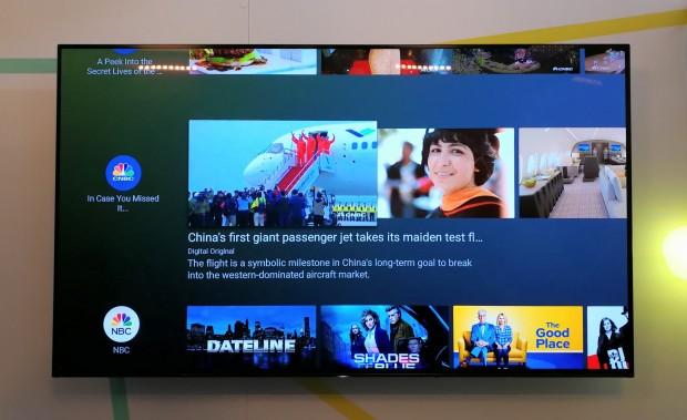 Der neue Startbildschirm der kommenden Version von Android TV (Bild: Tobias Költzsch/Golem.de)