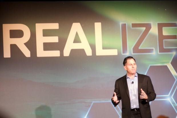 Michael Dell und das Motto der diesjährigen Dell EMC World (Foto: Andreas Sebayang/Golem.de)