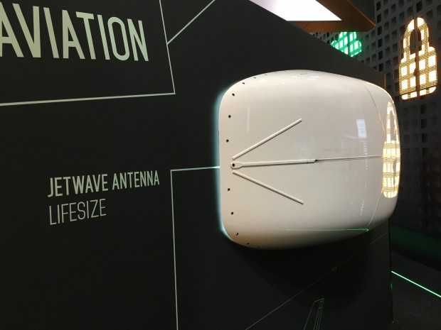 Die von Inmarsat vorgestellte GX Aviation-Antenne. (Foto: Andreas Sebayang)