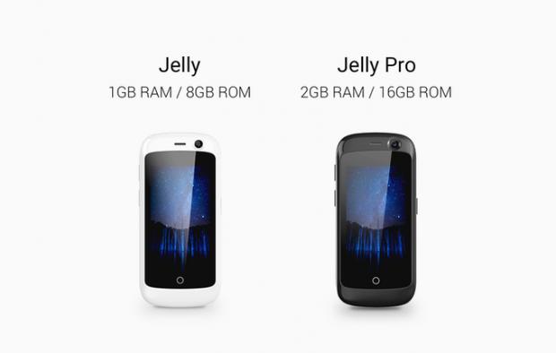 Das Jelly-Smartphone soll als Standardvariante und als Pro-Version erscheinen. (Bild: Unihertz)