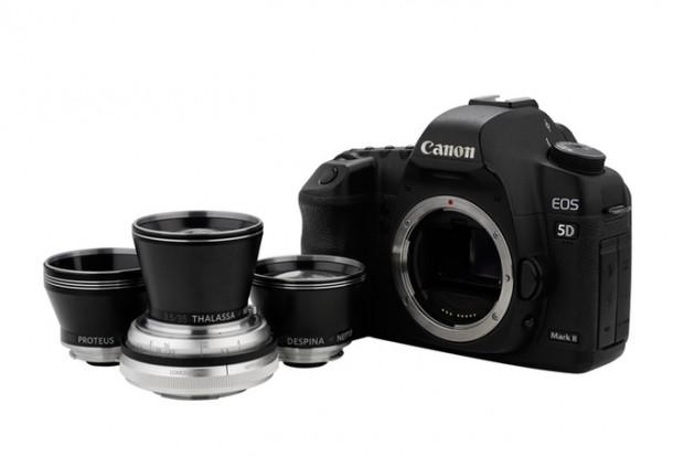 Das Neptune Convertible Art Lens System mit Canon-EF-Mount (Bild: Lomography)