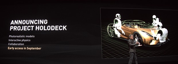 Nvidia zeigt Project Holodeck. (Foto: Marc Sauter/Golem.de)