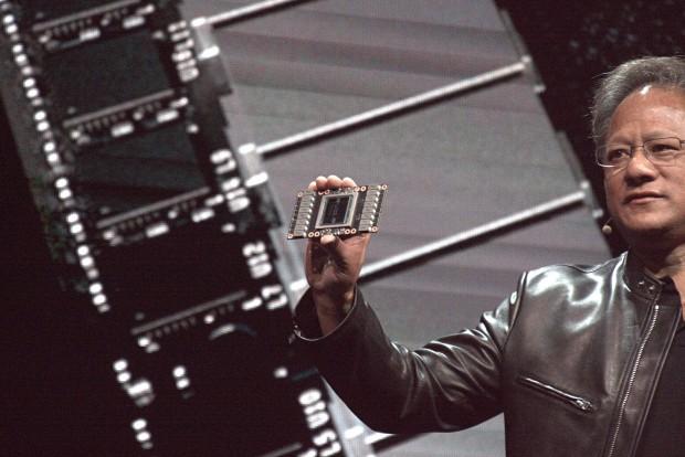 Nvidia stellt die Tesla V100 vor (Foto: Marc Sauter/Golem.de)