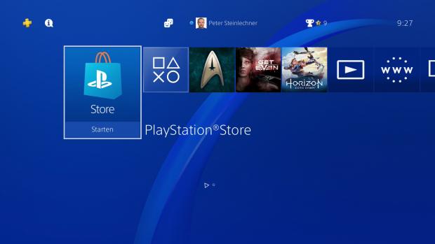 Das neue Symbol für den Store ... (Bild: Sony/Screenshot: Golem.de)