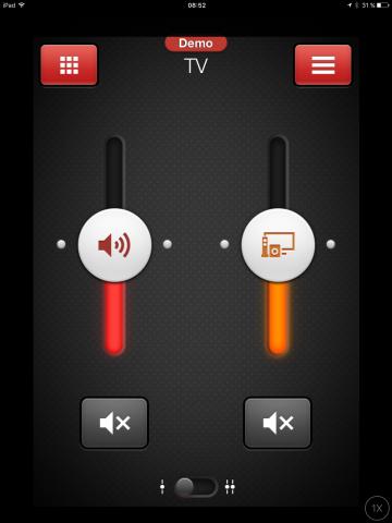 Wer TV schaut, kann auch die Umgebungsgeräusche hinzuschalten, um sich etwa unterhalten zu können. (Resound/Screenshot: Golem.de)