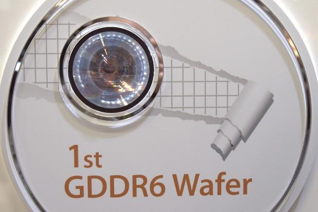Wafer mit GDDR6-Chips von SK Hynix (Foto: Marc Sauter/Golem.de)