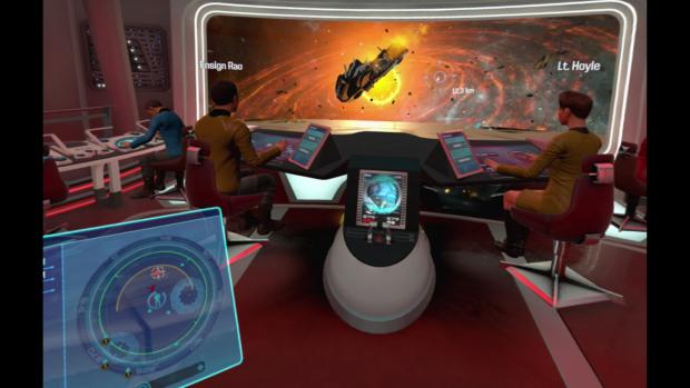"""Bei der Markierung """"12,3"""" explodiert gerade ein klingonisches Schiff. (Bild: Ubisoft/Screenshot: Golem.de)"""