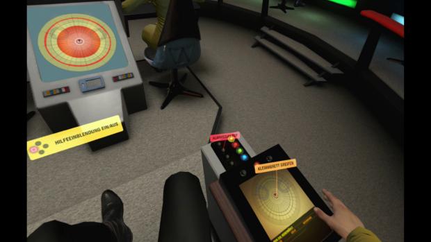 Auf der Original Enterprise finden wir ein Klemmbrett - damals gab es noch nicht mal Tablets. (Bild: Ubisoft/Screenshot: Golem.de)