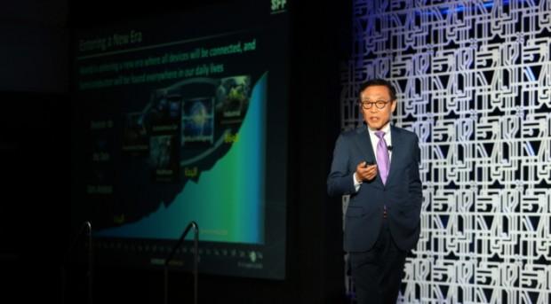 Kinam Kim, Präsident von Samsung Electronics Semiconductor Business, erläutert die Roadmap. (Foto: Samsung)