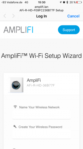 Ersteinrichtung mit der App (Screenshot: Golem.de)