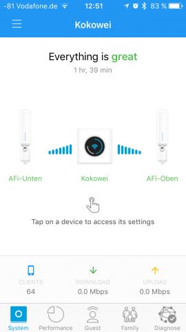Die App für iOS und Android übernimmt die Verwaltung. Hier ist die Übersicht zu sehen. (Screenshot: Golem.de)