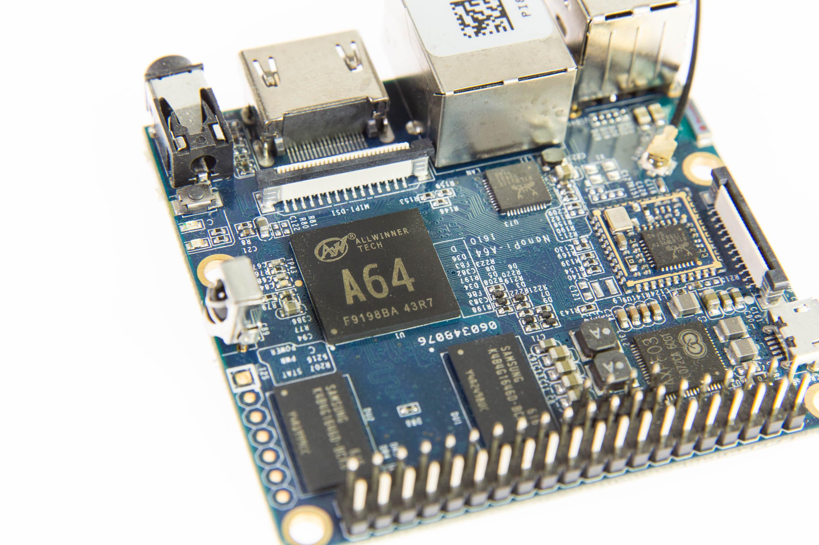 Bastelrechner Nano Pi im Test: Klein, aber nicht unbedingt oho - Nano Pi A64 - Front (Bild: Martin Wolf/Golem.de)