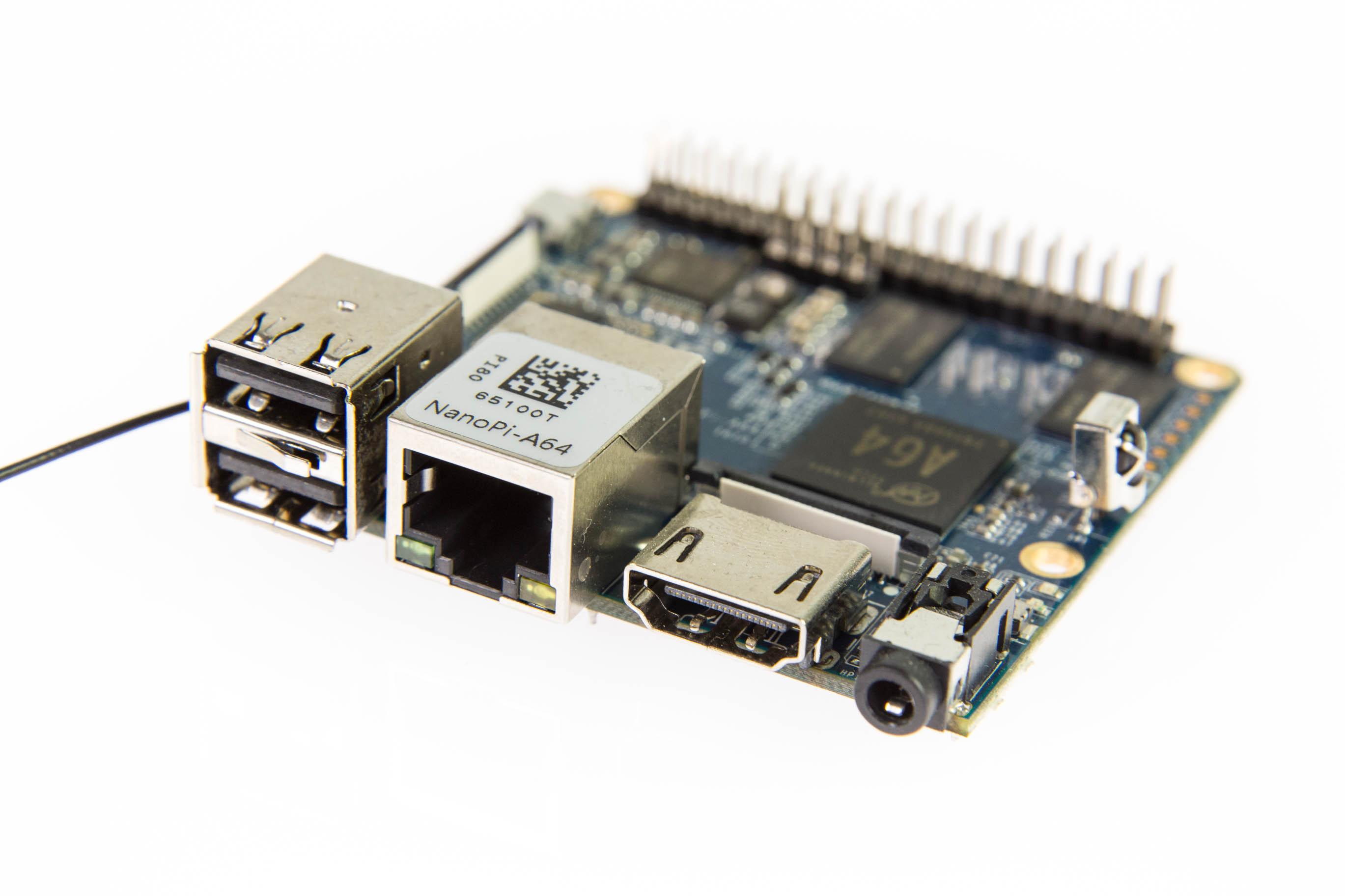Bastelrechner Nano Pi im Test: Klein, aber nicht unbedingt oho - NanoPi A64 (Bild: Martin Wolf/Golem.de)