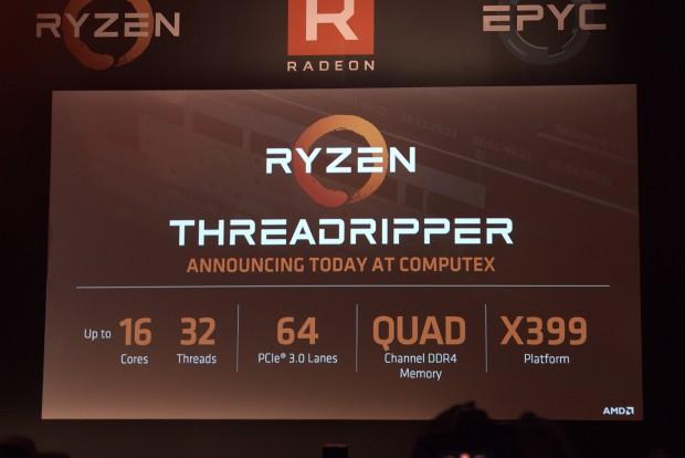 Grobe technische Daten von Ryzen Threadripper (Foto: Marc Sauter/Golem.de)