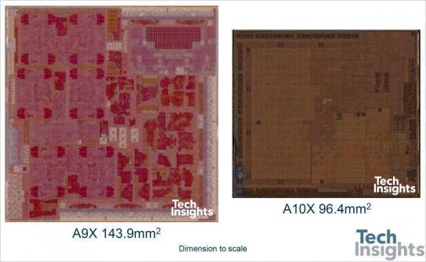 A10X Fusion und A9X (Bild: Tech Insights)